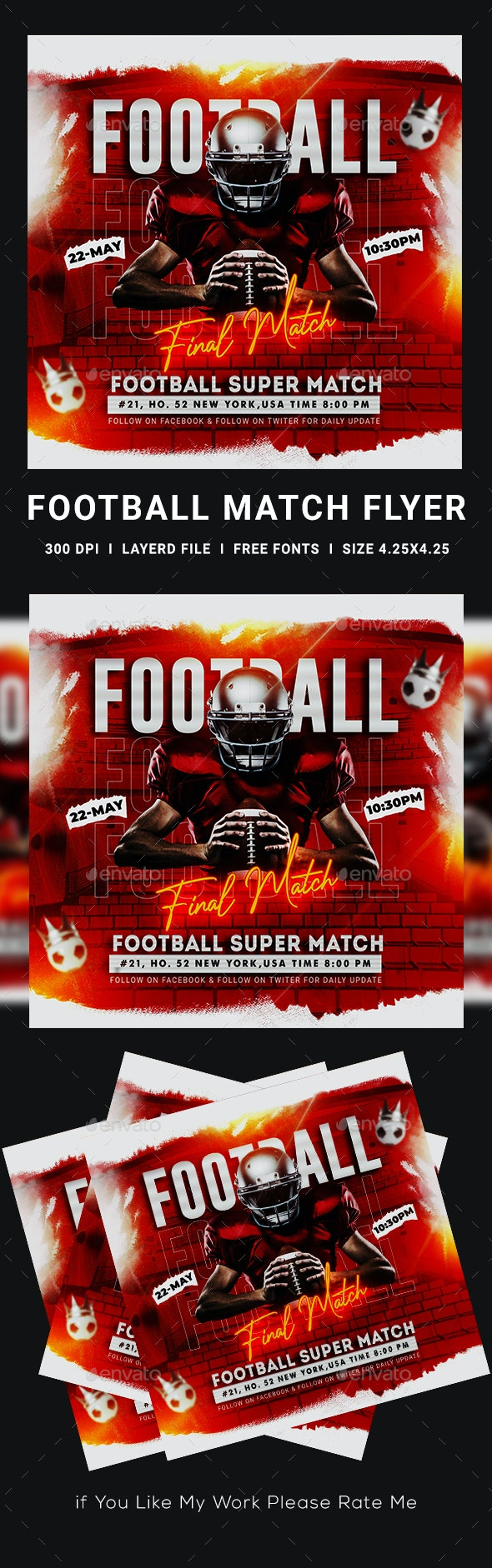 Football Match Flyer - Sports Events