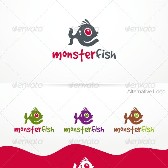 MonsterFish Logo Template