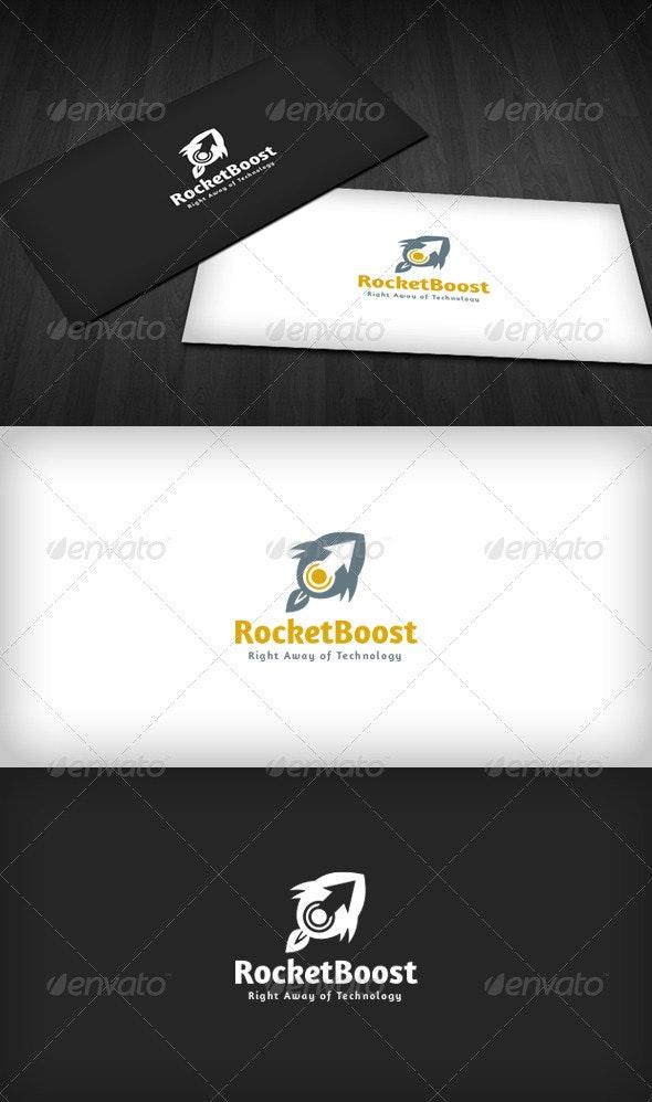 Rocket Boost Logo - Vector Abstract