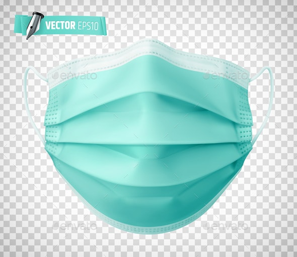 Vector Realistic Medical Face Mask - Objects Vectors