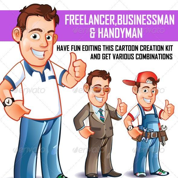 Freelancer Businessman and Handyman