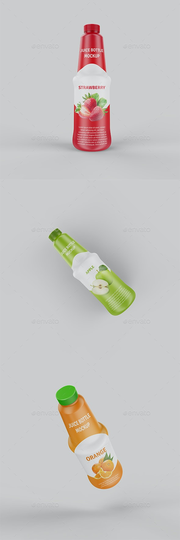 Juice Plastic Bottle Mockup - Food and Drink Packaging
