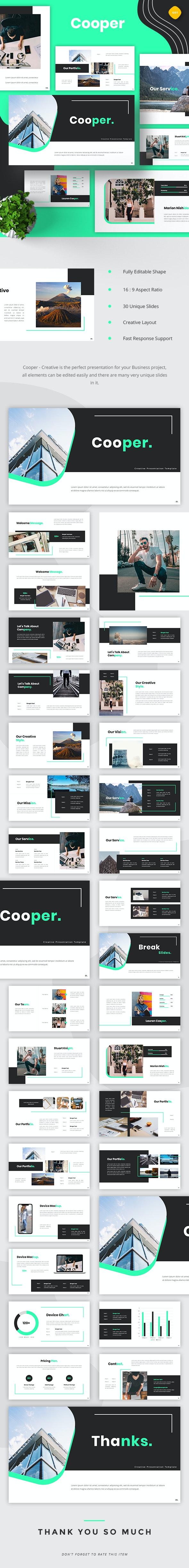 Cooper - Creative Google Slides - Google Slides Presentation Templates