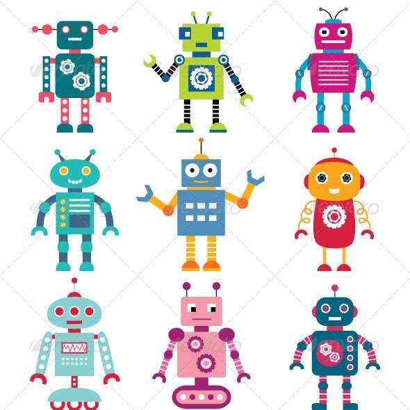 Robots vector set.