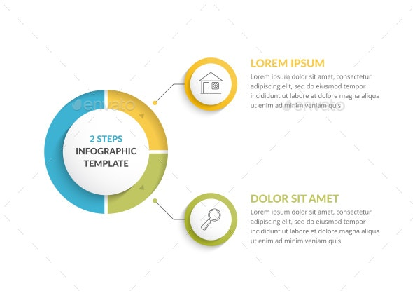 Infographic Template with 2 Steps - Infographics