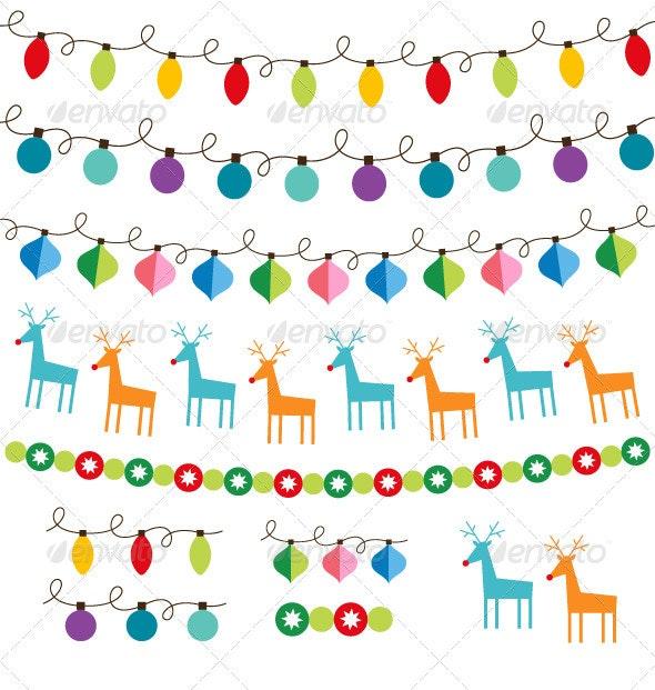 Christmas decoration vector set.  - Christmas Seasons/Holidays