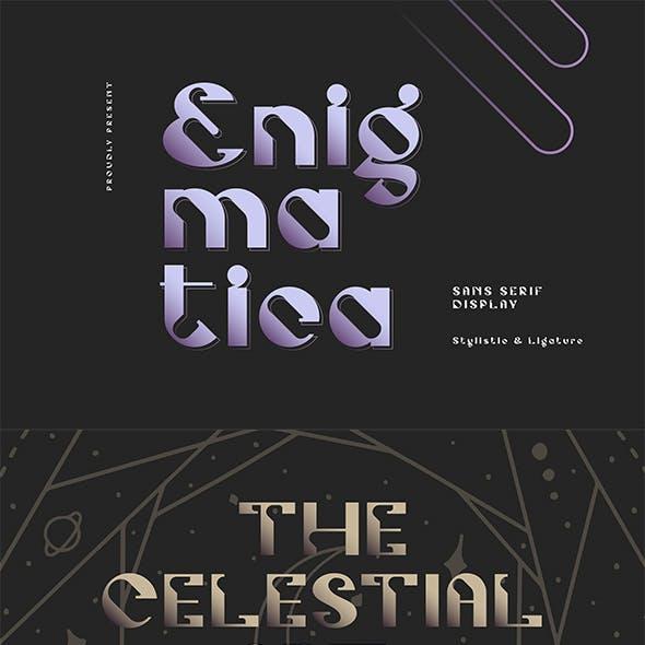 Enigmatica - Retro-Futuristic Font