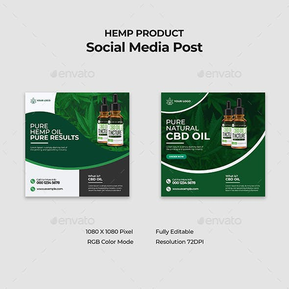 Hemp Product Social Media Template