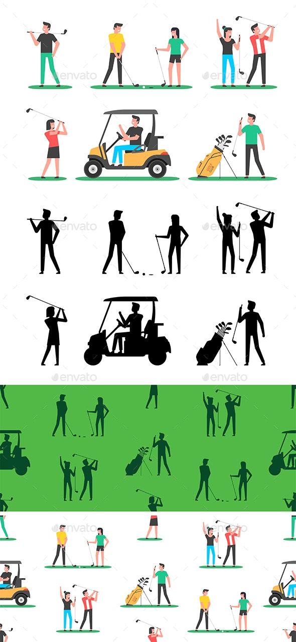 Golf player - Vectors