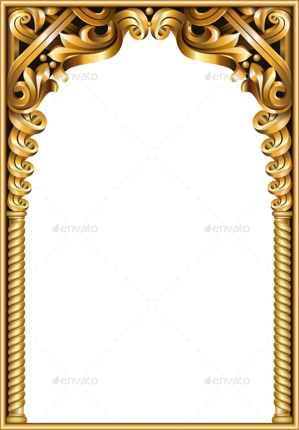 Gold Classic Frame of the Rococo Baroque - Buildings Objects