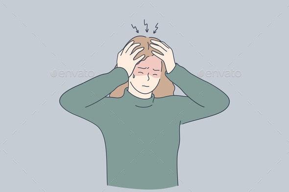 Stress Headache Depression Concept - Business Conceptual