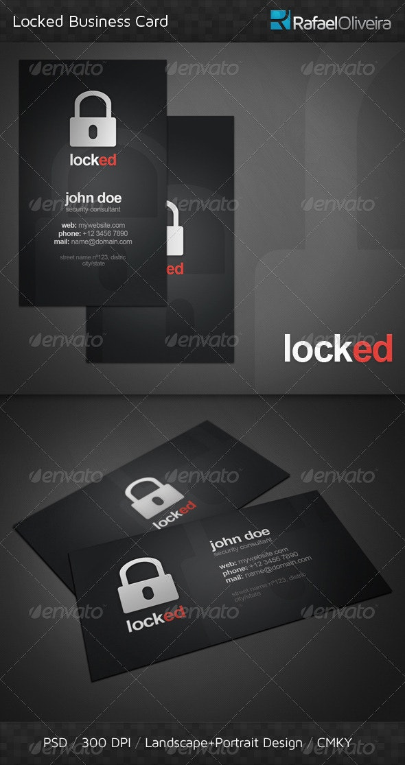 Locked Business Card - Corporate Business Cards