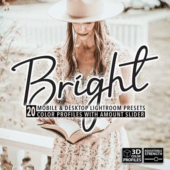 20 Bright Tones Lightroom Presets, 3D Profiles