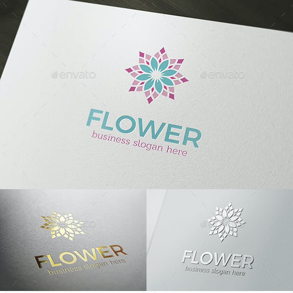 Flower Logo Boutique or Spa and Beauty Multipurpose Logotype