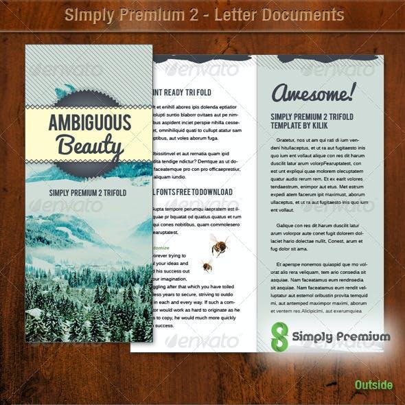 Simply Premium 2 – Tri Fold Brochure