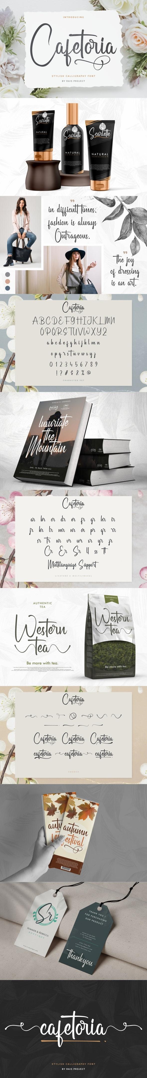 Cafetoria Calligraphy Font - Calligraphy Script