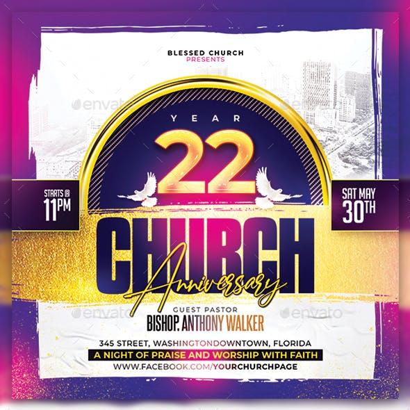 Church Anniversary Flyer/Poster