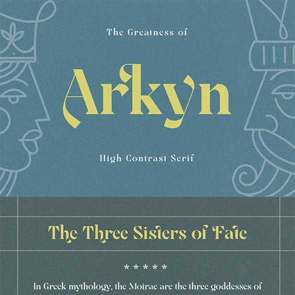 Arkyn - Modern Classic Serif Font