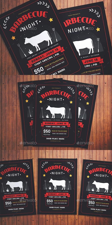Bbq Night Flyer - Flyers Print Templates