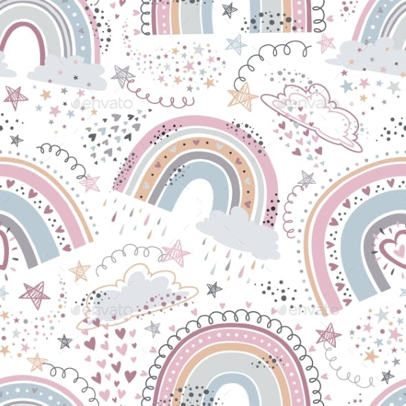 Rainbow Seamless Pattern