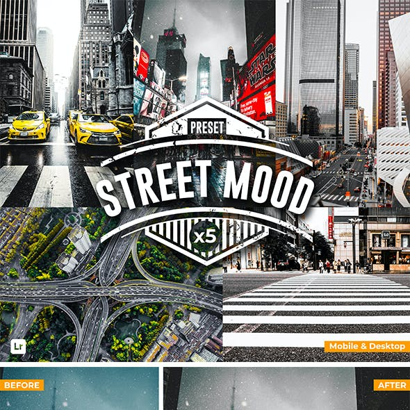 Street Mood - Cinematic Lightroom Presets (Mobile & Desktop)