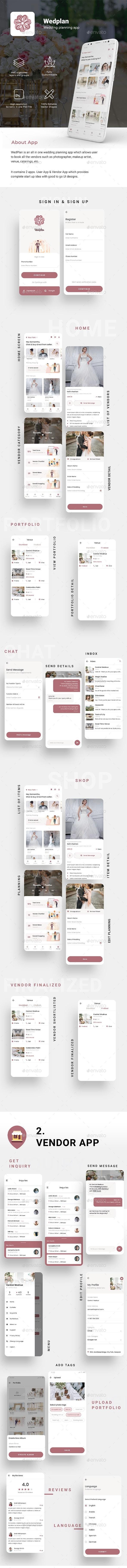 Wedding Planner | Event Management App UI | WedPlan - User Interfaces Web Elements
