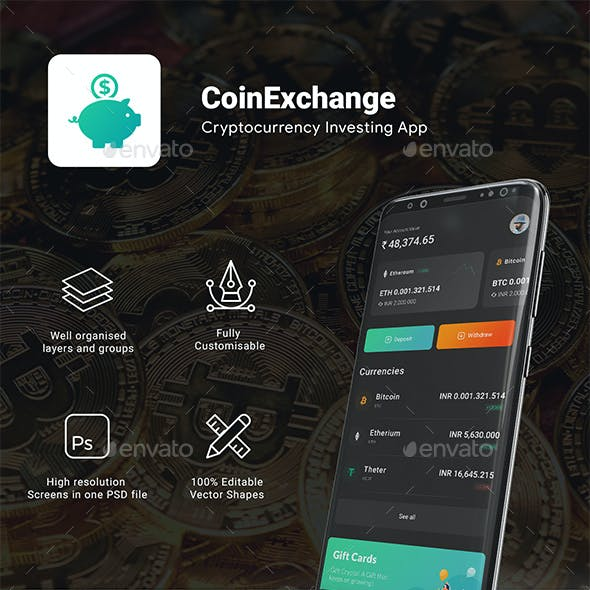 cryptocurrencies Trading App UI Kit | Coinexchange