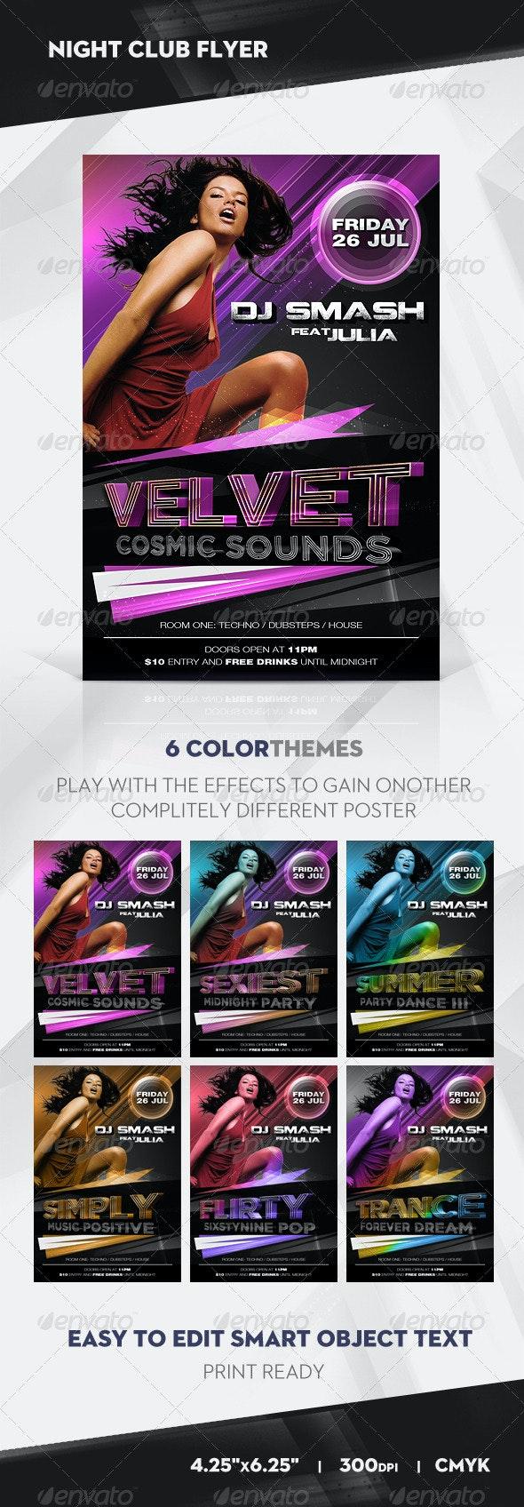 Velvet Sound Dance Party Flyer / Poster - Clubs & Parties Events