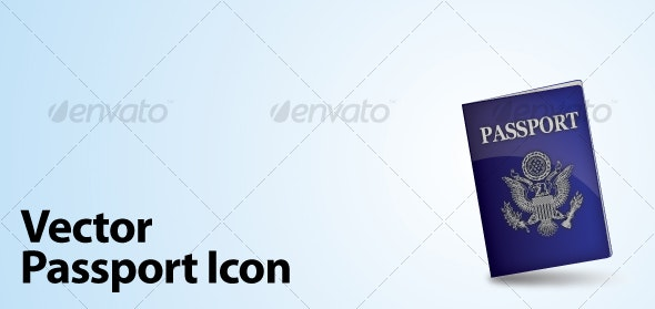 Vector Passport Icon - Man-made Objects Objects