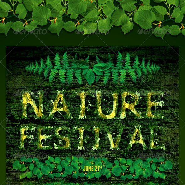 Environmental Nature Leafs Flyer Template