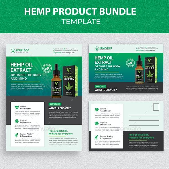 Hemp Product Flyer & Postcard Bundle