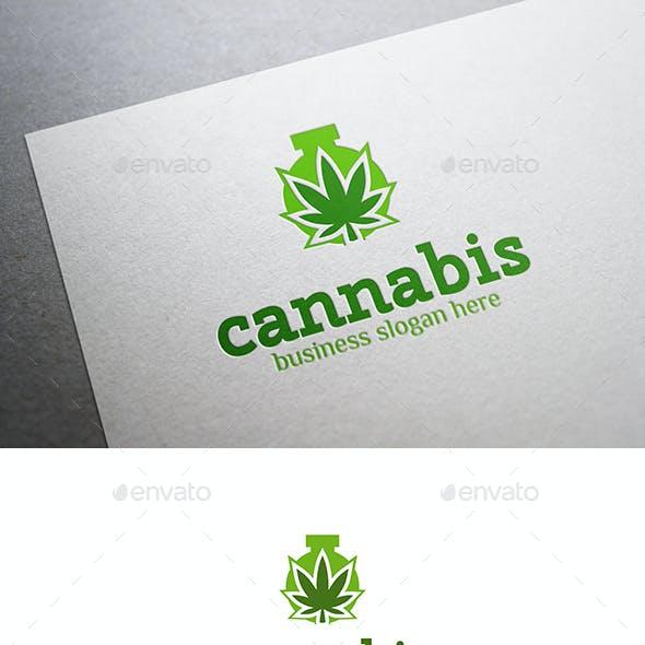 Cannabis Laboratory Logo Hemp Leaf