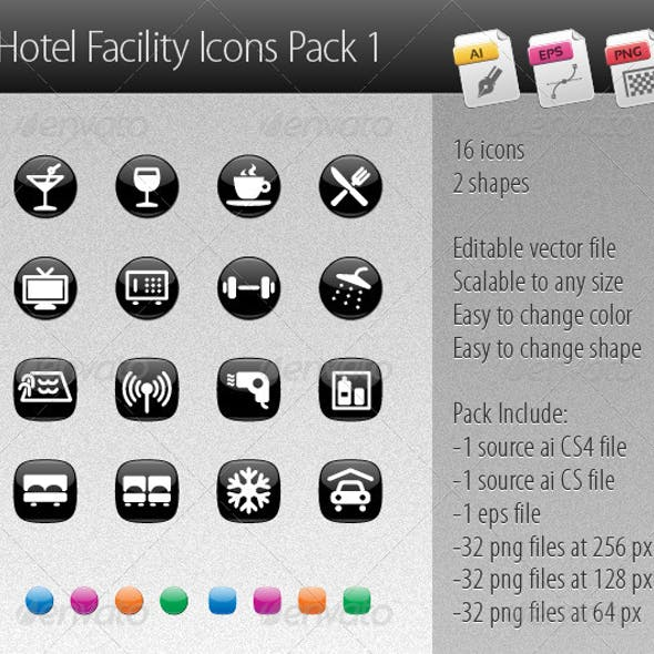 Hotel Facility Icons Pack 1