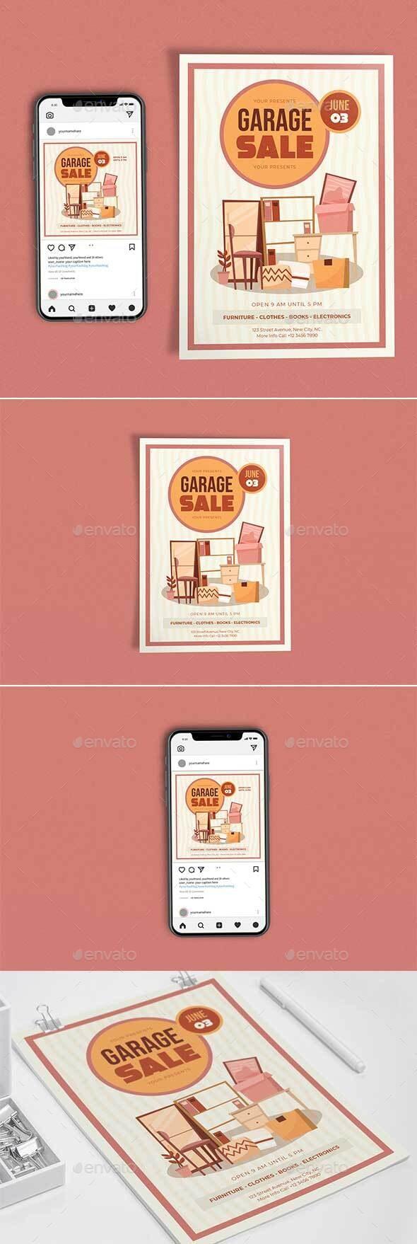 Simple Garage Sale Template Set - Events Flyers