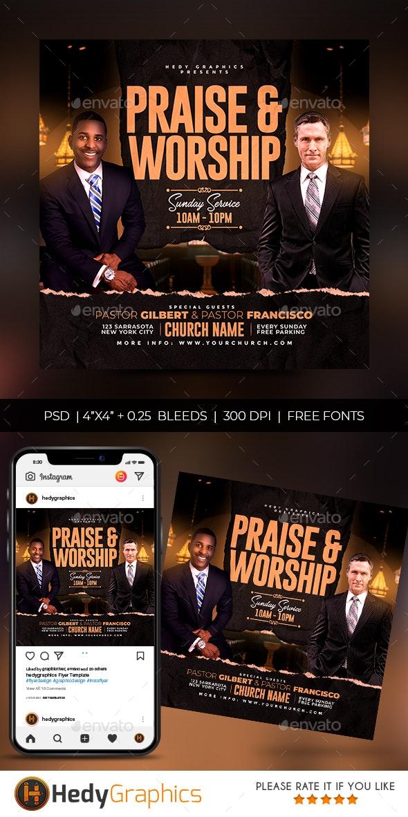 Church Flyer - Social Media Web Elements