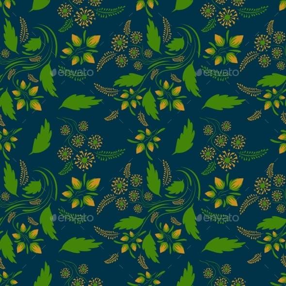 Folk Floral Art Pattern