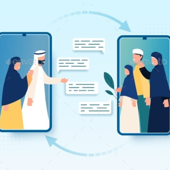 Muslim Families Video Conferencing
