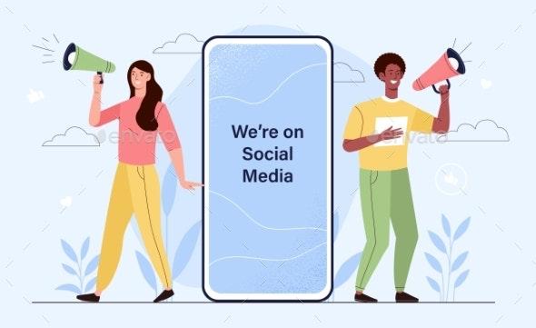Social Influencer Concept - Technology Conceptual
