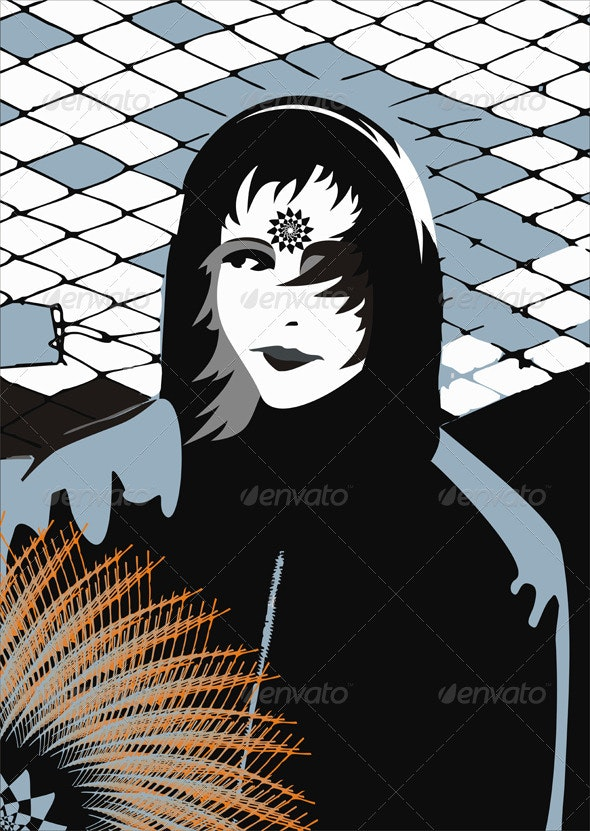 Girl Abstract - Characters Vectors