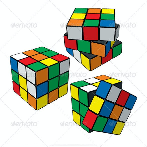 Set of Puzzle Cubes