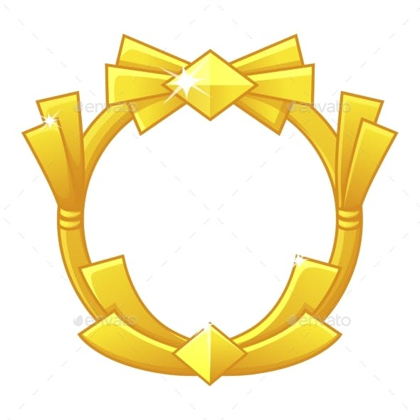 Gold Game Frame Award Avatar Round Template for