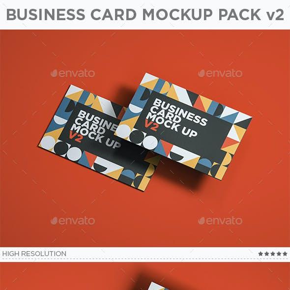 Business Card Mockup Pack v2