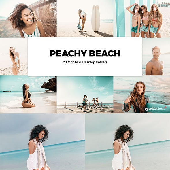 20 Peachy Beach Lightroom Presets & LUTs