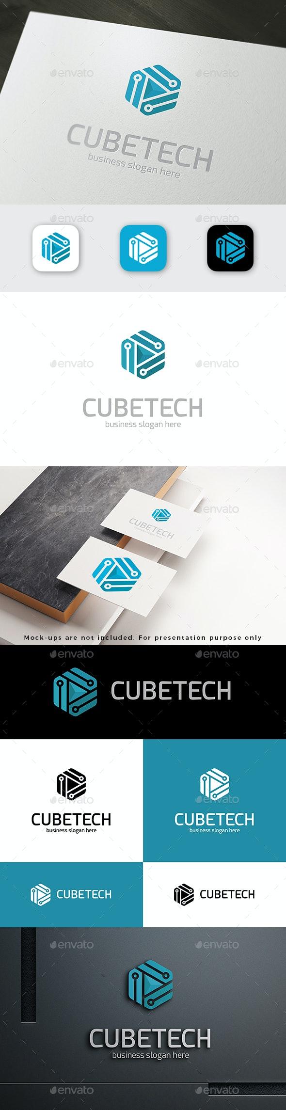 Cube Tech Logo - Vector Abstract
