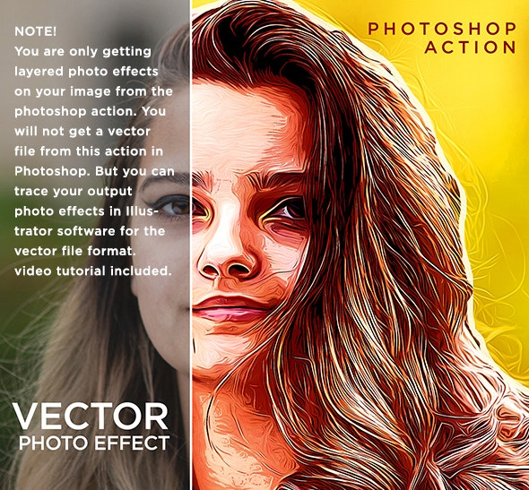 Vector PhotoEffect Photoshop Action - Photo Effects Actions