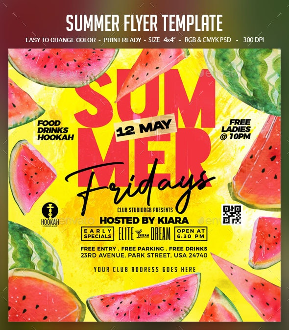 Summer Flyer Template - Clubs & Parties Events