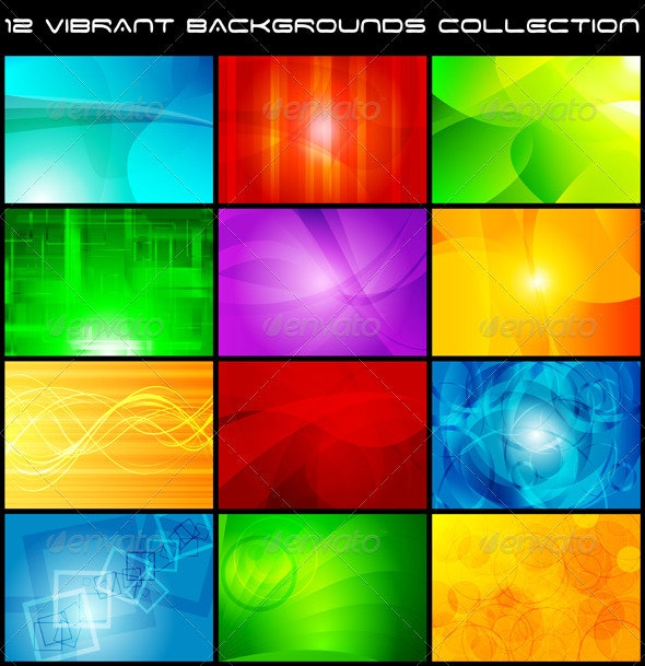 Colourful backgrounds collection - Backgrounds Decorative