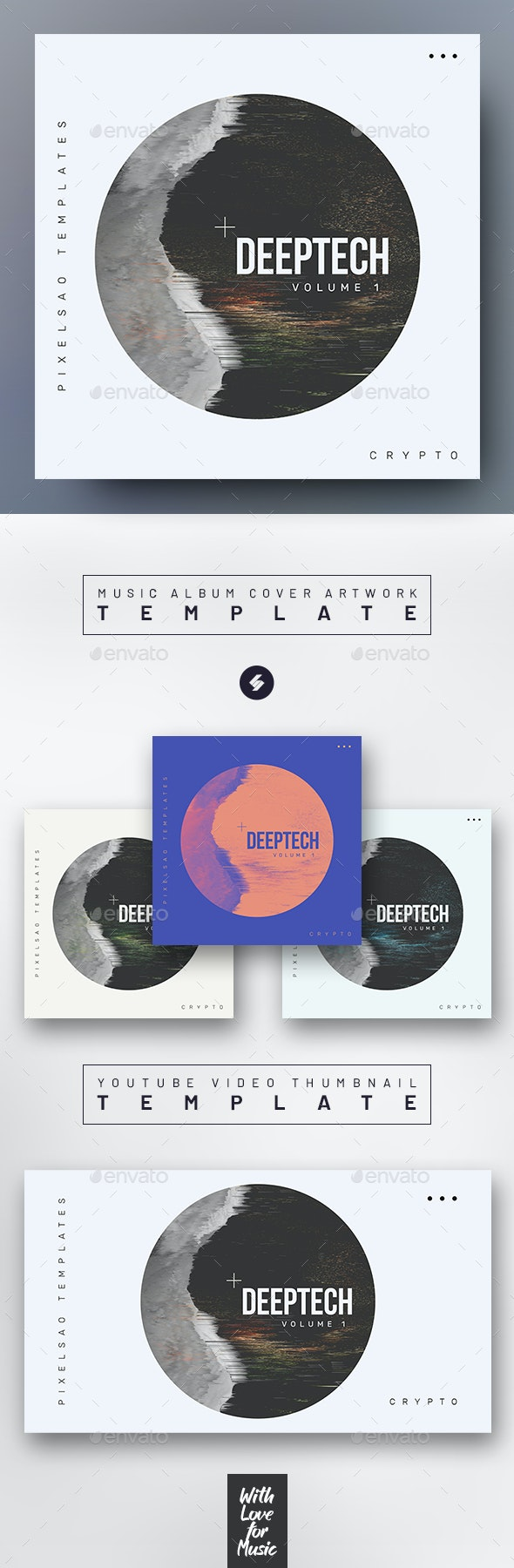 Deeptech – Music Album Cover Artwork Template - Miscellaneous Social Media