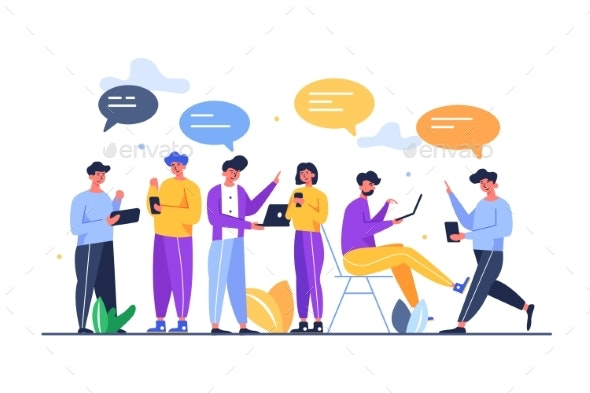 A Group of People in a Team are Doing Work - Business Conceptual