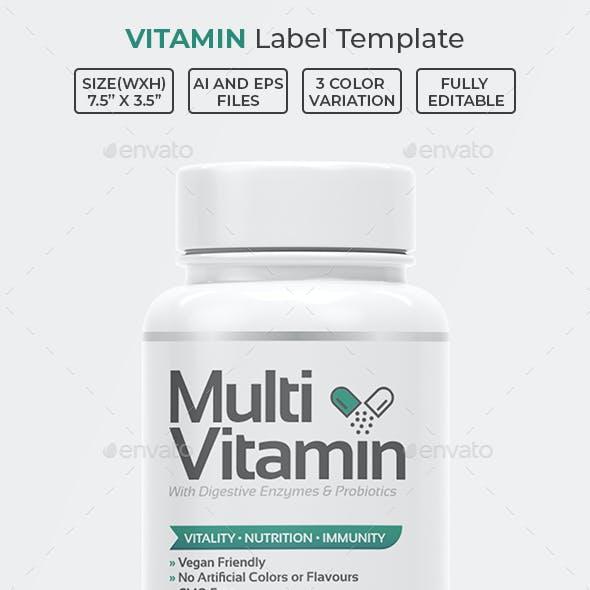 Vitamin Label Template